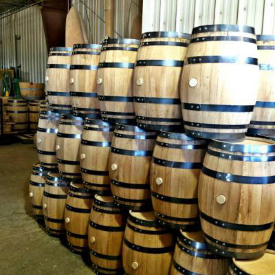 A stack of barrels ready to be filled