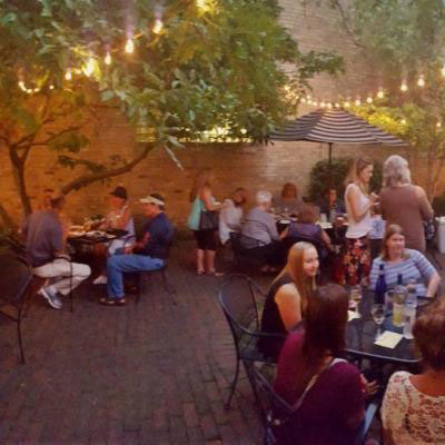 Panorama of our outdoor dining area