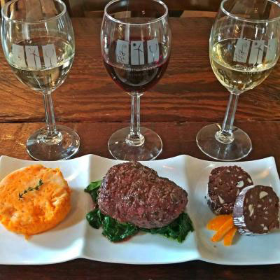 Our food and wine pairings are to die for